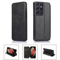 Luxus-Leder-Telefonkasten für Sansung S21 S20 Ultra Plus-Flip-Kartenpaket Weiche Schutzfall