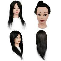 """Manikin poupée 100% cheveux humains Traine Tête de 14 """"-18"""" de longueur pour coiffeur pratiquant mannequin"""