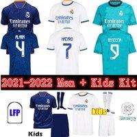 2021 2022 REAL MADRID soccer jerseys 21 22 ALABA HAZARD Jersey BENZEMA ASENSIO MODRIC MARCELO football shirts men kids kit uniforms