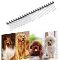 Mascotas de acero inoxidable Combs Cat Dog Herramientas profesionales Dientes redondeados para eliminar los nudos enredos