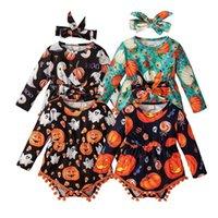 Clothing Sets Kawaii Baby Bodysuit Infant Kids Boys Girls Halloween Costume Cartoon Romper Jumpsuit Headbands Outfits Rompers 1461 B3