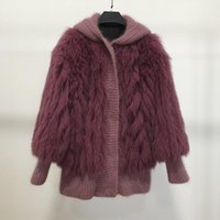 Women's Fur & Faux Autumn And Winter Real Coats Women Fashion Jackets Hoodies Outwear 2021 S M White Pink
