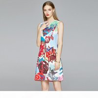Quality Summer Runway Printed Dresses Fashion Autumn Women's t shirt Dress Plus Size Sexy Slim Prom Party Office Ladies Designer Mini D