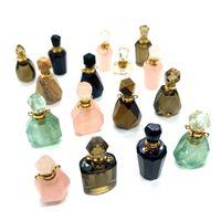 Charms schaden natürlicher stein parfüm flasche pendelle farbe mode klassische design diy armband halskette ohrringe zubehör