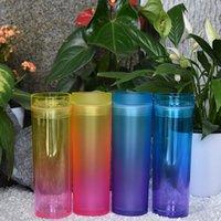 Tazze acriliche acriliche acriliche in acrilico 16oz tazze a pezzi acrilici con coperchi e cannucce doppia parete tumblers in plastica riutilizzabile tazza