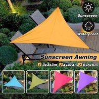 4x4 متر 3x3 متر مظلة للماء قماش القنب خيمة الظل مثلث الشراع الشمس في الهواء الطلق مظلة حديقة باتيو بركة التخييم نزهة خيام والملاجئ
