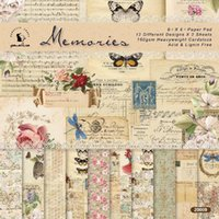 "Sheets 6"" X6"" Vintage Patterned Paper Pad Scrapbook..."