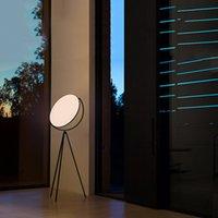 İtalyan Tasarımcı Yaratıcı Zemin Lambası Nordic Tarzı Modern Model Üç Renk Değiştirilebilir LED Işıkları İç Aydınlatma Proje Lambaları Dikey Çalışma Sanat Dekorasyon