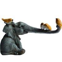 Novità Articoli Collezione giornaliera Lucky Elephant Figurine Fiaba Giardino Ornamenti Animali Ornamenti Home Decor Decorazioni da tavolo Decorazione da tavolo Artigianato souvenir