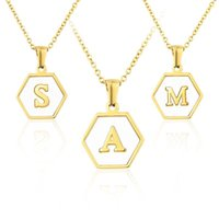 Pendant Necklaces Freshwater Basic With Real Gold Plated 26 Letters Custom Necklace For Women