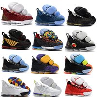 새로운 망 16S 평등 농구 신발 Chaussure 드 농구 제임스 스포츠 스니커즈 W 보좌 킹 오레오 뉴 - 레브론 16 평등