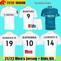 21 22 Leeds United Camisa de futebol RAPHINHA BAMFORD 2021 2022 RODRIGO M POVEDA PHILLIPS HARRISON LLORENTE Camisa de futebol ROBERTS Camisa Homems Kit Crianças
