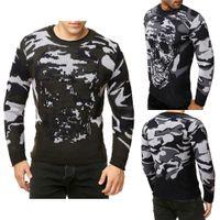 캐주얼 스웨터 남성 풀오버 브랜드 겨울 뜨개질 긴 소매 라운드 넥 슬림 니트웨어 스웨터 크기 M-3XL
