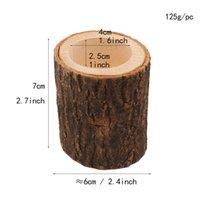 Подсвечник плока 3шт / комплект колонны деревенское дерево деревянные подсвечники мини вазон открытый сад суккуленты цветок rrd7046