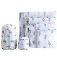 Clothing & Wardrobe Storage 6pcs Sold Underwear Washing Bag Printing Mesh Fabric Fine Set Clothes Large Care