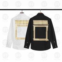 2021 Mens Designers Camisas Moda Casual Homens Slim Fit Stripe Womens Roupas Homem S Roupas Luxo Cores Sólidas Vestido Camisa 21ss