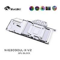 Bykski Water Block Использование для красочных Igame RTX 3080 Ultra OC 10G / Advanced 10G / 3090 Расширенная охлаждающая радиатор радиатора вентиляторы Охлаждающие охлаждения