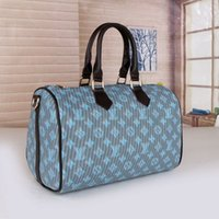 2021 Mujeres Brown Designer Messenger Bolsas de equipaje Mujeres Viajes Bolsa de almohada Bolsos de hombro Totes Dama Bolsos con correa de hombro Bolso de polvo 40391-2