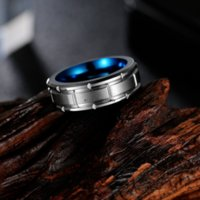 Carve Square Tungsten Steel Ring Band Finger Men Fashion Hip Hop Jewelry Punk Tungsten Carbide Rings Will and Sandy