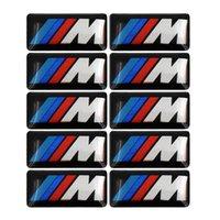 car 100pcs Tec Sport X6 M Wheel X5 Sticker Emblem Logo For bmw M6 Series M3 M1 M5 Badge X1 X3 Decals 3D E34 E36 stickers styling E6 Ftsjt