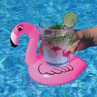 نفخ فلامنغو المشروبات كأس حامل بركة يطفو شريط الوقايات تعويم الأجهزة الأطفال حمام لعبة صغيرة الحجم