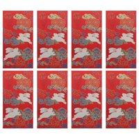 선물 포장 8pcs 중국어 봉투 돈 패킷 예쁜 축제 홍 바오