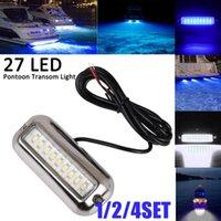 Car Headlights 1 2 4Set IP68 50W Boat Lamp 12V 27LED Lure Night Fishing Finder Light Shads LED Deep Drop Underwater