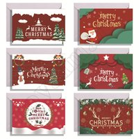 24 Piece Sets of Christmas Cards Creative New Year Christmas Tree Decorations Greeting Card Holiday Wishes Postcards