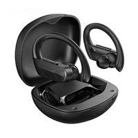 TWS Bluetooth Auricolare Auricolare Sologo Auricolari wireless Auricolari Sport Ear Gancio Design con MIC 28HRS Playtime IPX7 Impermeabile per la corsa