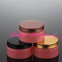 Storage Bottles & Jars Flamingo Pink Empty Jar 100g Black Bronze Gold Aluminum Cap PET Containers Cream Packaging Plastic Colored Pot 100ml