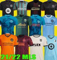 2021 2022 Los Montreal La Lafc Futbol Formaları Galaxy Inter Minnesota Miami 21 22 Atlanta Birleşik York FC Şehir Portland Futbol Gömlek Jersey Oyuncu Hayranları Sürüm MLS