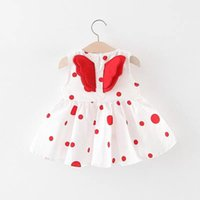 Girl's Dresses Born Infant Clothes Baby Girl Princess Dress Dot Print Wing Little Girls Party Birthday Toddler Kids