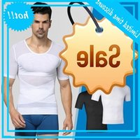 Mens Original Compression Slimming Shapewear Waist Body Shaper Shirt