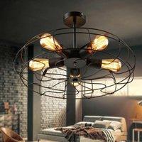 Deckenventilatoren Vintage Retro Industrielleuchten Amerikanische Landküche Loft Lampe Eisen Material Installieren 5 stücke E27 Glühbirnen