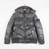 겨울 두건 가벼운 남자의 아래로 파카가 위장 캐주얼 따뜻한 운동복 간단한 커플 재킷 유럽과 미국의 유명한 브랜드