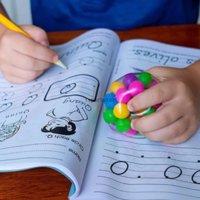 DHL Arco-íris Pressão Bola Fidget Toy DNA Colorido Grânulos Esforço Relevo Bola TPR Glue Macio Grape Burr Burr Burrch Squeeze Presente do Dia das Crianças