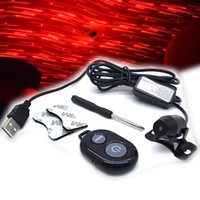 USB Car Starry Sky Light Interior Modification Ceiling Atmosphere Lights Meteor Shower Projection Remote vehicle Mounted Lamp