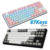 Teclados Chave de teclas 87 PCS / Set PBT Cor Correspondente à prova de luz mecânica teclado Keycaps Substituição Acessórios para computador