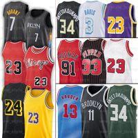 7 Kevin Antetokounmpo Durant Baloncesto endurecido Jersey 23 LBJ 33 Scottie 91 Dennis Pippen 11 Kyrie Rodman Irving 3 Anthony 34 Giannis Davis Ncaa Jerseys