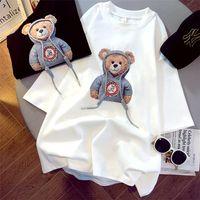 2021 Moda Bayanlar T Gömlek Kadın Kısa Kollu Üst Yaz Gömlek Hip Hop Trend Gevşek Yuvarlak Boyun Rahat Giysileri Büyük Boy S-XXL