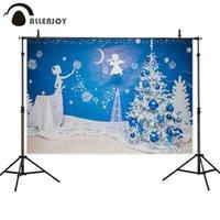 Украшение партии Allenjoy Angel Pocall фон принцессы снежные деревья рождественские пефон фантазия фон POS события