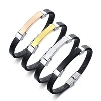 Fashion Accessory Jewelry Men's Bracelet PU Leather + Titanium Steel Accessories Bracelet