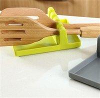 اكسسوارات المطبخ أدوات الطبخ مقاومة للحرارة سيليكون ملعقة بقية مغرفة أواني حامل المنظم رف تخزين أداة الطبخ حامل 235 v2