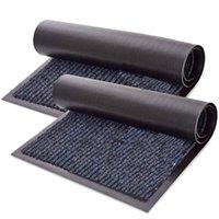 Carpets 2-Pack Striped Door Floor Mat - Indoor Outdoor Rug Entryway Welcome Mats With Rubber Backing For Shoe Scraper, Perfect Insid