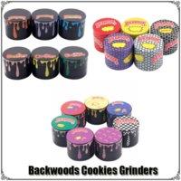 Backwoods Cookies Grinder Herb Metal Zinc Alloy Tobacco Herbal 4 Layers 40 50 55 63mm Diameter Grinders Smoking Accessories