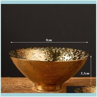 Kitchen, Dining Bar Home Gardenceramic Gold Glaze Master Cup Creative Porcelain Small Tea Bowl Simple Handmade Office Teacups Water Mug Drin