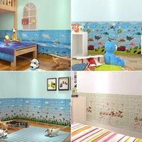 Wallpapers 6MM 3D Brick XPE Foam Anti-Collision Wall Paper Self-Adhesive Kid Room Kindergarten Decorate Stickers