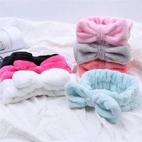 Makeup Brushes 1Pcs Flannel Bow Headbands Soft Bowknot Elastic Hair Band Spa Facial Cosmetic Sets Bath Sweat Shower Tools