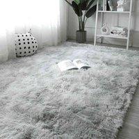 Plush Carpet for Living Fluffy Rug Thick Bed Carpets Anti-slip Floor Gray Soft Rugs Tie Dyeing Velvet Kids Room Mat