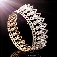 Hair Clips & Barrettes Luxury Queen King Crown Headband Metal Crystal Head Piece Decoration For Accessory Wedding Tiara Diadem Bridal Jewelr